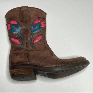 Lelli Kelly Leather Cowgirl Boot Flower Western